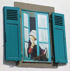 Trompe l'oeil window, Guerande, France