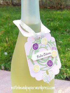 Ein Flaschenanhänger zu Ostern (Stampin' Up Wunderbar Verwickelt)