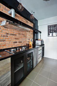 Design de cozinha HD industrial