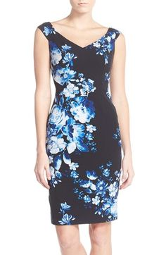 Adrianna Papell Floral Print Sheath Dress available at #Nordstrom