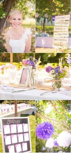 love this wedding. beautiful colors and decor