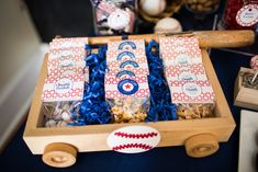 Baseball Baby Shower Decorations | Baby Ruth bars and Cracker Jacks are certainly a must for a baseball ...