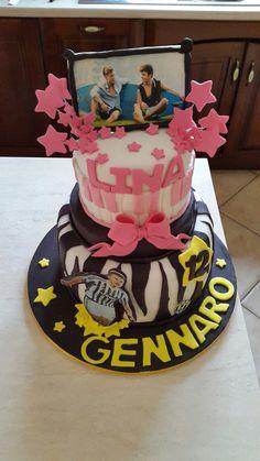 Torta compleanno gemelli