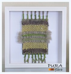Telar decorativo formato 30x30.- 100% lana natural. Lana, Embroidery, Natural, Frame, Ideas, Food, Home Decor, Fiber, Weaving Looms