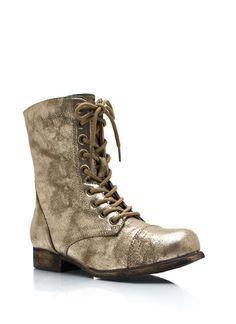 Shine On Combat Boots
