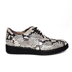 Zurbano | Freddy - python print leather lace-up oxford shoes