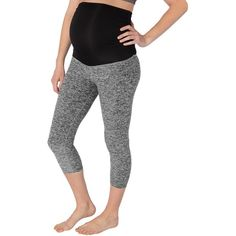 Beyond Yoga Spacedye Fold Down Maternity Yoga Capris ($105) ❤ liked on Polyvore featuring maternity