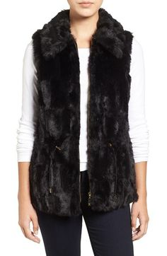 Free shipping and returns on Chaus Faux Fur Vest at Nordstrom.com. A face-framing (and neck-warming) collar tops a vest of plush and lustrous faux fur with waist-cinching toggles to refine the fit.