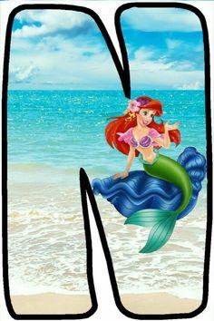 Little Mermaid Parties, Ariel The Little Mermaid, Printable Potty Chart, Monogram Alphabet, Disney Characters, Fictional Characters, Letters, Disney Princess, Minecraft Houses