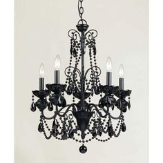 Black Chandelier - I want this in our bedroom