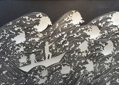 Original papercut art by Maude White
