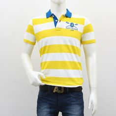 United Colors of Benetton – Yellow White Striped Polo T-Shirt Polo T Shirts, Benetton, Shopping Sites, Men's Collection, Outlets, Polo Ralph Lauren, Cool Style, Break Outs, Polo Shirts