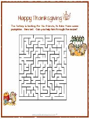 Thanksgiving Crossword Puzzle with Answer Key, Grade 3 ...