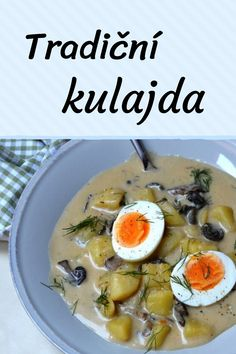 Czech Recipes, Ethnic Recipes, Home Recipes, Healthy Recipes, Cheeseburger Chowder, Food Inspiration, Good Food, Food And Drink, Meals