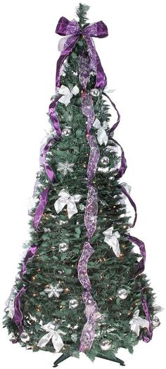 On sale at time of posting. For those who love a touch of purple. Northlight Seasonal Pre-Lit Pine Pop-Up Artificial Christmas Tree. Treatment Projects Care Design home decor Christmas Decorations, Christmas Tree, Holiday Decor, Handmade Crafts, Diy Crafts, Modern Farmhouse Living Room Decor, Purple Trees, Decorating Your Home, Pop Up