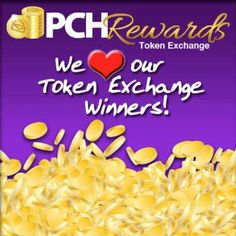 PCH Tokens Exchange and Win at PCH.com/Redeem