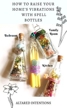 How to Raise Your Home's Vibration With Spell Bottles – A comprehensive list of the best herbs, crystals, and locations for each room in your home spell magick crystals ritual witch home 665266176189290582 Jar Spells, Magick Spells, Green Witchcraft, Hoodoo Spells, Magick Book, Healing Spells, Wiccan Decor, Pagan Altar, Spiritual Decor