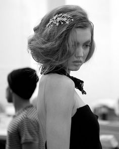 Hair styled by Odile Gilbert