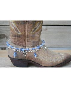 Boot Candy Lt. Sapphire Crystals and Hearts.    $19.95