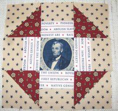 Lincoln's Platform Quilt Block Churn Dash Quilt, Shoo Fly, Civil War Quilts, Quilt Patterns, Quilting Ideas, Needle Case, Book Quilt, American Civil War, Vintage Quilts