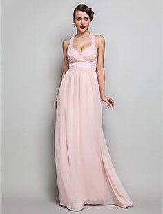 Mantel / Spalte V-Ausschnitt bodenlangen Chiffon Abendkleid ... – EUR € 107.24