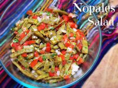 La Cocina de Leslie: Ensalada de Nopales {Cactus Paddle Salad} & How to Cook Nopales  mix together the cactus, chopped onion, tomato, and cilantro.  Season lightly with salt.  Serve as a side dish or as a topping for tacos and/or tostadas