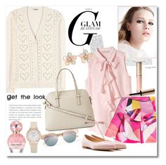 """""""Get the look"""" by vkmd ❤ liked on Polyvore featuring Miu Miu, H&M, Kenzo, Kate Spade, Jil Sander, By Terry, Mixit, Le Specs, Marc Jacobs and GetTheLook"""