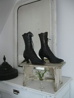 antique victorian ankle boots
