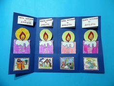 Piccolo lapbook dell'Avvento - MaestraRenata Xmas, Christmas, Catholic, Calendar, Education, Creative, Books, Advent, Drawings