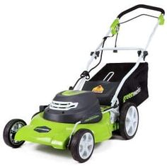 Greenworks 12 Amp Corded Lawn Mower 25022 Durable Steel Deck Powerful 12 Amp Motor (Mulching, Side Discharge, and Rear Bag) Single Lever Height Adjustment Push Button Start. Drive system: manual Foldable Handles For Compact Storage Rear / Front Wheels Best Lawn Mower, Lawn Mower Tractor, Cheap Lawn Mowers, Electric Mower, Electric Vehicle, Electric Fan, Cordless Lawn Mower, Walk Behind Lawn Mower, Grass Cutter