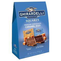 Ghirardelli Chocolate Squares Caramel Duo Premium Chocolate 15.9 Oz