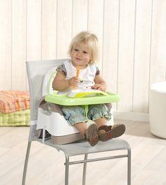 Seggiolino Alzasedia compatto trasportabile con cuscini rimovibili. Alza-sedia con seduta anatomica dotata di due morbidi cuscini in microfibra removibili e lavabili. Si adatta a tutte le sedie e all'età del bambino grazie alle 3 altezze e alle 3 imbracature (per il bambino, per lo schienale e per il sedile). Sicurezza garantita anche dall'ampio appoggio e dal separa gambe. Il seggiolino è ripiegabile e il ripiano staccabile. http://www.damble.com/babymoov_seggiolino_alzasedia_compatto.html