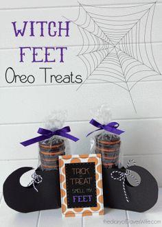 Witch Feet Oreo Treats   TORIng America ©   2013  Read more at: http://toringamerica.com/witch-feet-oreo-treats/   TORIng America ©   2013