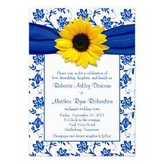 horizon and yellow weddings   ... horizon blue and white floral damask yellow sunflower wedding
