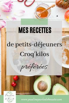 My favorite Croq'kilos breakfast recipes Healthy Drinks, Healthy Snacks, Healthy Recipes, My Recipes, Cooking Recipes, Healthy Baking, Breakfast Recipes, Food And Drink, Menu