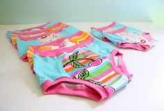 Kiddie underpants tutorial.  $10 for the pattern, for sizes 2-4-6-8, boys and girls.  Kid underwear is so expensive, and they can ruin several pairs when potty training!  Handy pattern.
