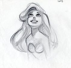 I love Glen Keane. Some day I will meet him and collapse in a blubbery mess. This drawing, to me, is perfect. scurviesdisneyblog: Ariel By Glen Keane  | followpics.co