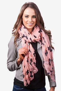 Melon Polyester Bow Tied Scarf (so cute!)