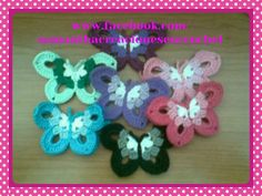 Mariposas en crochet #samanthacreaciones