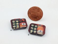 Dollhouse Miniatures 1:12 Scale Handmade ONE Pack Japanese Food Sushi To Go
