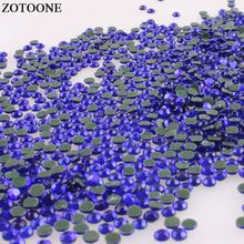 ZOTOONE Royal Blue Hotfix Rhinestones For Crafts Strass Hot Fix Flat Back  Rhinestones For Clothing DIY Crystal Applique Iron On(China) 08a9535c5a5f