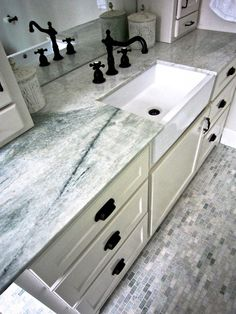 #ming green marble #heated bathroom floors