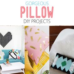 Gorgeous Pillow DIY Projects - The Cottage Market