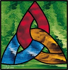 Stained Glass Pattern: Simple Celtic Knot