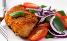 Lunch/Dinner: Epicure's Baked Crispy Chicken Breasts (270 calories/serving) serve with side salad