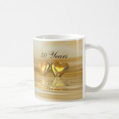 Shop Golden Anniversary Hearts Coffee Mug created by Peerdrops. Personalize it with photos & text or purchase as is! Golden Anniversary Gifts, Wedding Anniversary Celebration, 50th Anniversary, Coffee Heart, Coffee Mugs, Romantic Gifts For Her, Christmas Gifts For Husband, Golden Heart, Make It Yourself
