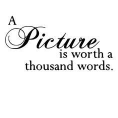 A Picture is Worth a Thousand Words Die-Cut Decal Car Window Wall Bumper Phone Laptop