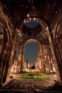 Ruins and a beautiful night sky in Armenia. Photo taken by Suren Manvelyan.