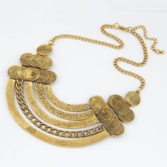 Retro Metal Openwork Arc Shape Necklace For Women, AS THE PICTURE in Necklaces | DressLily.com