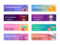 Banners In Mobile Ui Gamification By Nihal Singh On Dribbble-Banner Ui Dribbble Web Design, Web Banner Design, App Ui Design, Graphic Design, Creative Advertising, Mobile Ui, Banner Design Inspiration, Web Inspiration, App Promotion